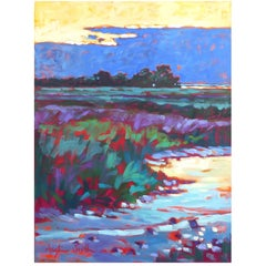 "Oil on Canvas by Artist Betty Anglin Smith Titled ""Low Tide, John's Island"" 1999"