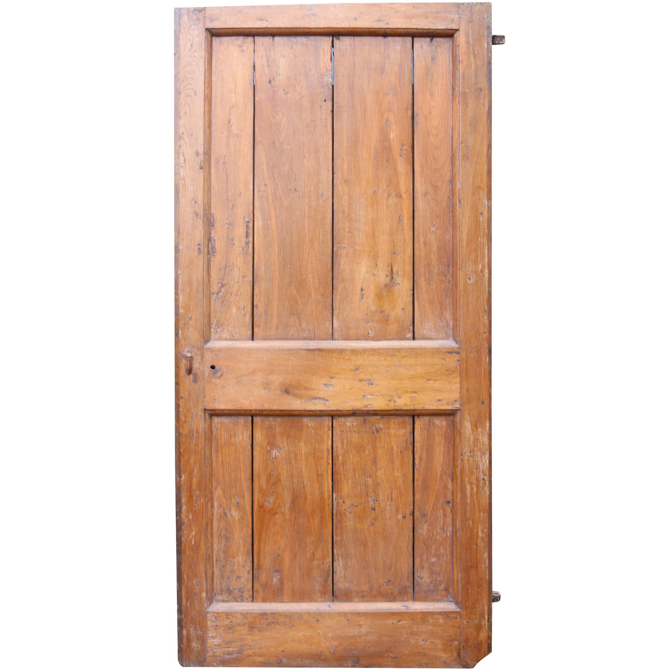 18th Century English Two Panel Door For Sale