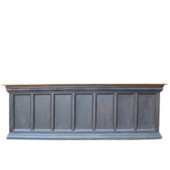 Reclaimed Stained Oak Bar or Shop Counter