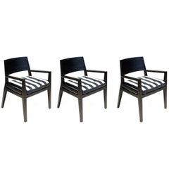1990s by Flexform Italian Design Set of Three Armchairs