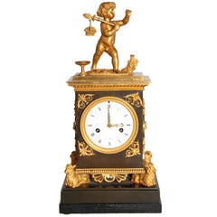 Early 19th Century French Clock with Putto