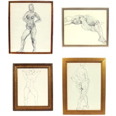 Selection of Figural Line Drawings by Miriam Kubach