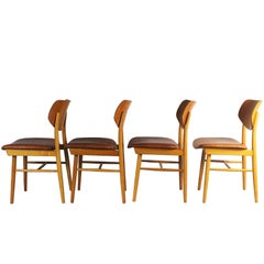 1960s Set of Four Chairs by Ton