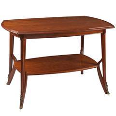 Louis Majorelle French Art Nouveau Wooden Table