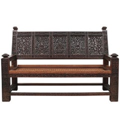 Aesthetic Movement Carved Settee