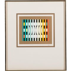 Kinetic Op Art Serigraph Titled Counter Rhythm by Yaacov Agam, 1980