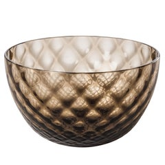 Coppetta Carnevale Glass Bowl in Grey by Venini