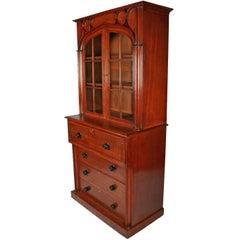 Gothic Secretaire Bookcase