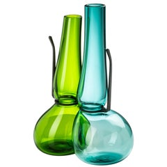 Venini 'Where Are My Glasses?' Double Lens Vase in Mint and Green by Ron Arad