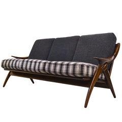 "Mid-Century Modern Teak Sofa ""the Knot"" Designed by De Ster Gelderland, 1950s"