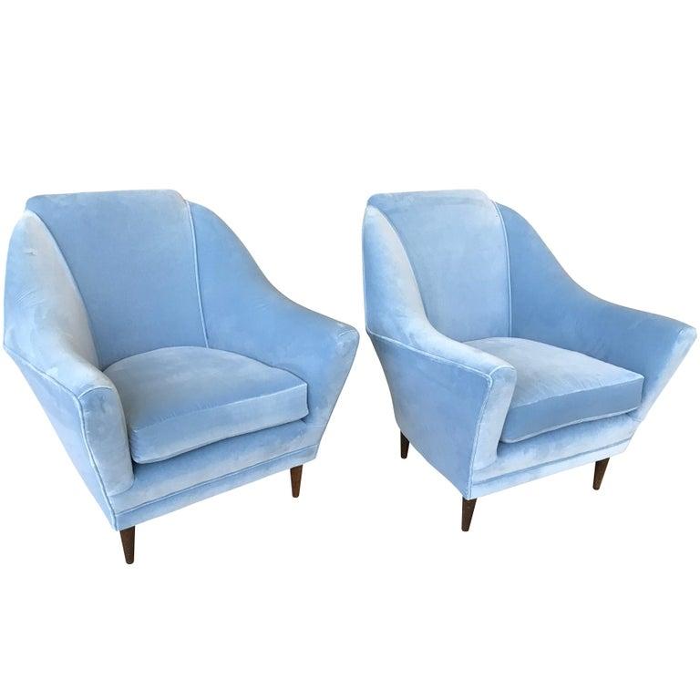 Stunning Pair of Ico Parisi Armchairs