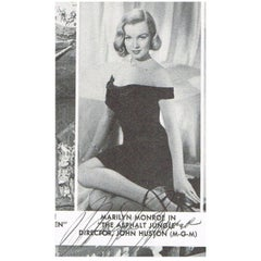 Marilyn Monroe Autographed Magazine Cut-Out