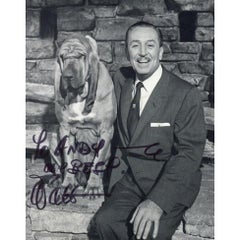 Walt Disney Black and White Signed Photograph