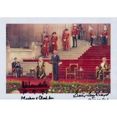 Nelson Mandela Signed Photograph