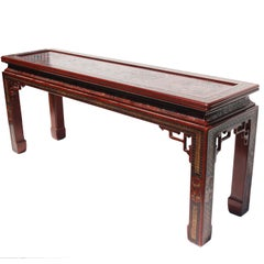 1978 Vintage Mario Buatta for John Widdicomb Chinoiserie Console Table