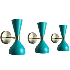 "Italian Modern Bronze and Enamel ""Ludo"" Wall Sconce or Lamp, Blueprint Lighting"