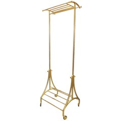 Bronze Rolling Clothes Rack (For Coats/Jackets)