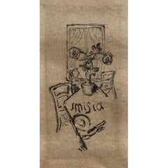 Misia Sert's Bookplate by Pierre Bonnard