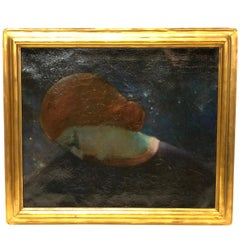 Modernist Oil on Canvas Painting Signed Boris Deutsch, 1922