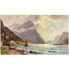 """on the Fjord"" by Walter Moras"