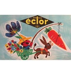 Original Vintage Poster, Graines Eclor, 1958