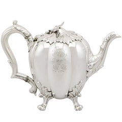 1836 Antique Sterling Silver Teapot