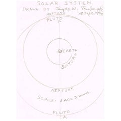Clyde Tombaugh Autographed Sketch of Solar System