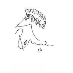 Ronnie Wood Autographed Original Sketch