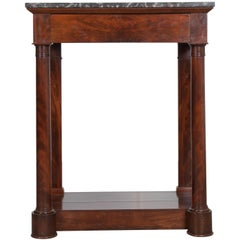 French 19th Century Mahogany Empire Console