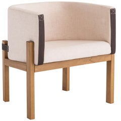 Liame Armchair, Contemporary Style, Wooden Brazilian Feet