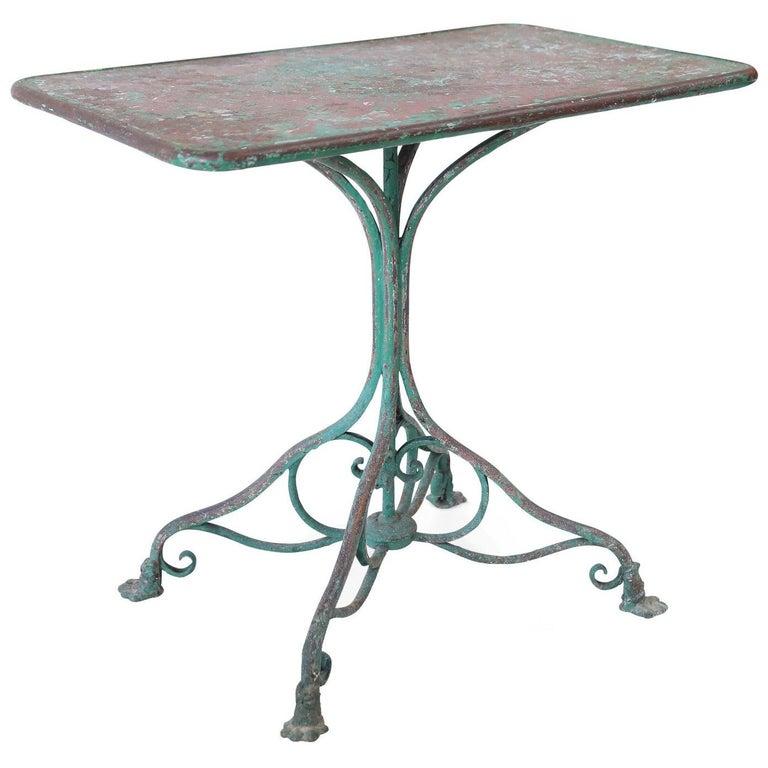 Arras Iron Garden Table