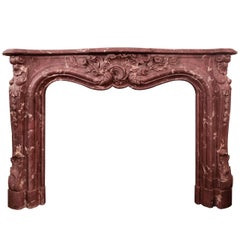 Marble and Resin Victorian Fireplace
