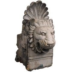 Stone Lion Building Ornament