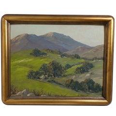 Landscape Painting Signed H. Mueller, Oak Gulch, 1950
