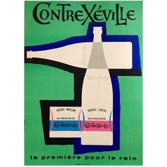 Original Vintage Poster, Contrexeville by Jean Colin, 1954