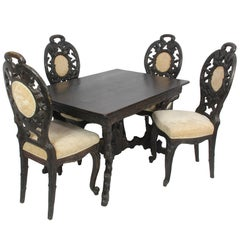 Black Forest Table and Four Chairs, circa 1840
