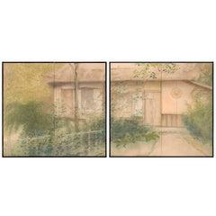 Pair of Two-Panel Screen, Autumn at the Rakushisha