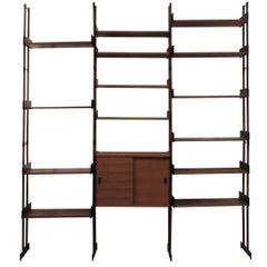 Modular Rosewood Shelf, Italy, 1950