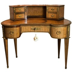 19th Century French Louis XVI Style Kidney Shaped Desk