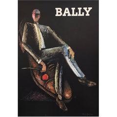 Original Vintage Poster, Bally Rocks Man by Alain Gauthier, 1970