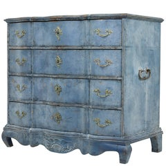 19th Century Swedish Shaped Front Painted Commode of Large Proportions