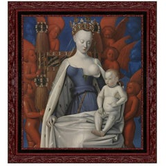 Virgin and Child, after Fine Art Oil Painting by Renaissance Artist Jean Fouquet