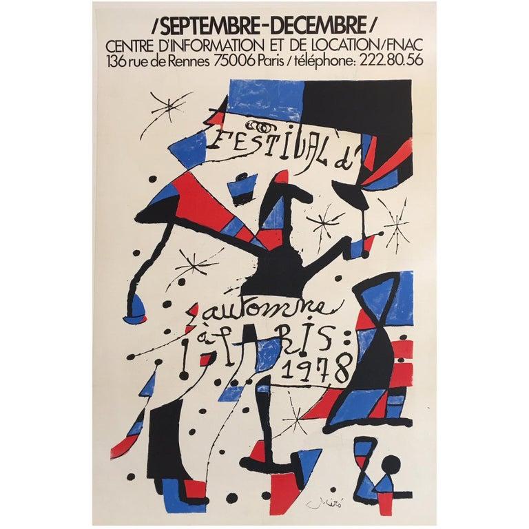Original Vintage Poster Miro 1978 Festival Exhibition Lithograph Poster original