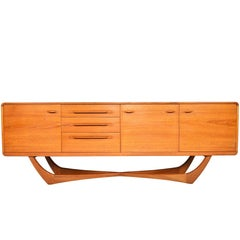 Beithcraft Teak Credenza with Floating X-Form Base #2
