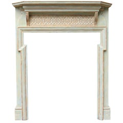 Late 19th Century Painted Pine Fire Surround
