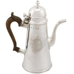 1705 Antique Britannia Standard Silver Chocolate Pot