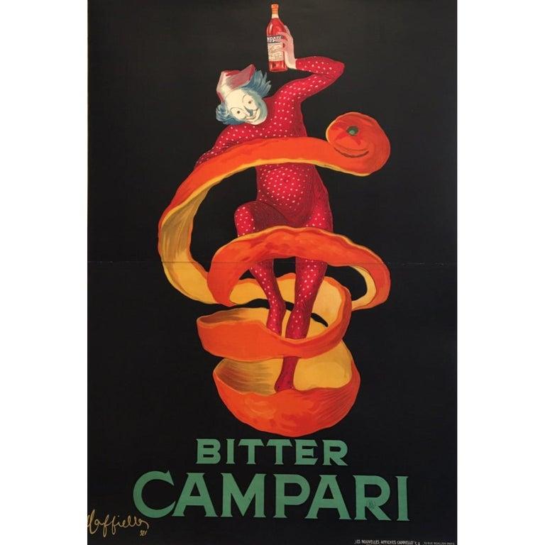 Original Vintage Poster LARGE Bitter Campari Spiratello Leonetto Cappiello 1927