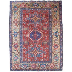 Antique Persian Heriz Rug, in Exceptional Condition