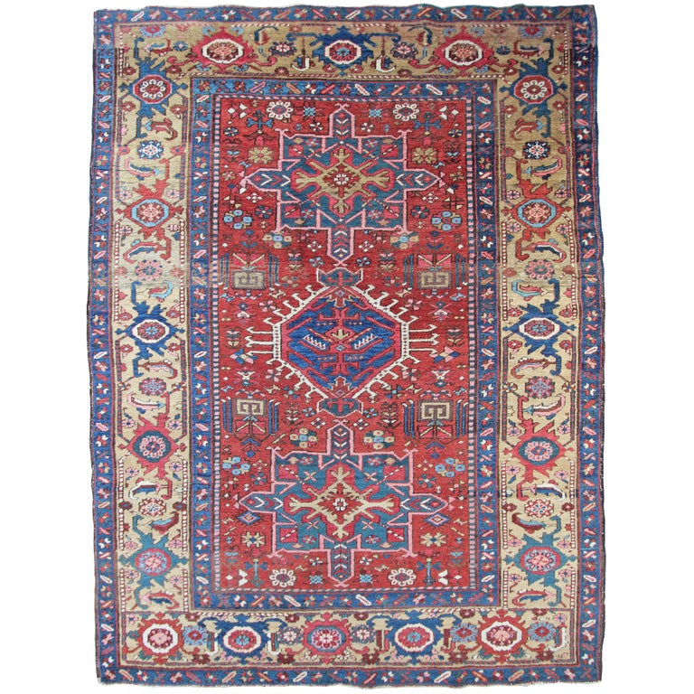 Antique Persian Heriz Rug, in Exceptional Condition