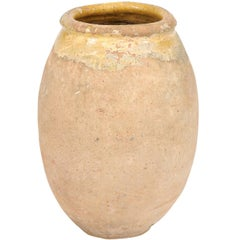 French, 18th Century Provincial Terracotta Biot Jar with Yellow Glazed Accents